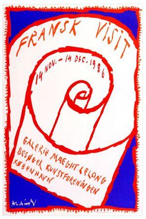 Cartel Alechinsky - Frank Visit