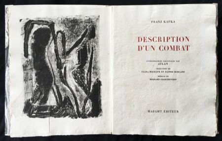 Libro Ilustrado Atlan - , Franz Kafka. DESCRIPTION D'UN COMBAT. Lithographies originales d'Atlan.