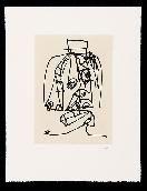 Aguafuerte Y Aguatinta Saura - Frauen portrait mit Hut 3