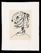 Aguafuerte Y Aguatinta Saura - Frauen portrait mit Hut 4