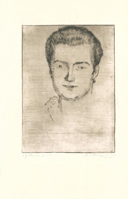 Grabado Philipp - Frauenbildnis