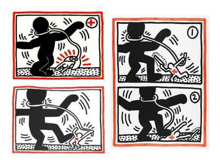 Serigrafía Haring - Free South Africa Series, set of 3