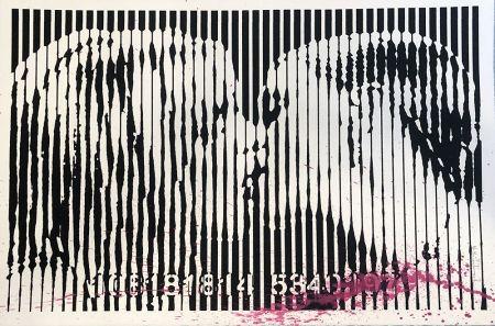 Serigrafía Mr Brainwash - Freedom Kiss (Pink Splash)