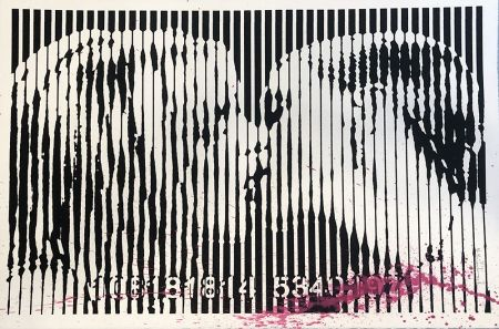 Serigrafía Mr. Brainwash - Freedom Kiss (Pink Splash)
