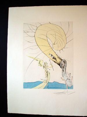 Grabado Dali - Freud With A Snail's Head