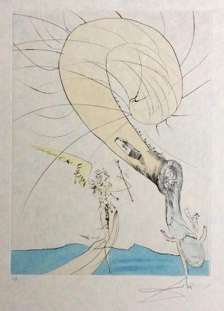 Grabado Dali - Freud with Snail Head