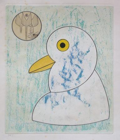 Aguafuerte Y Aguatinta Ernst - From oiseaux en peril
