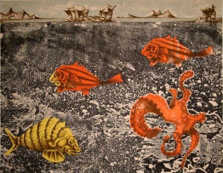 Litografía Lurcat - Fruits de mer