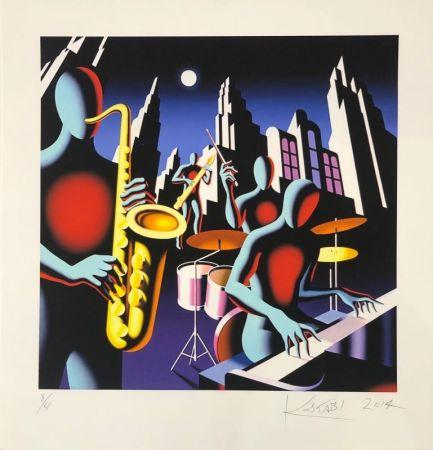 Serigrafía Kostabi - Full Moon Quartett