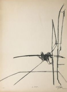 Litografía Szafran - Funambule