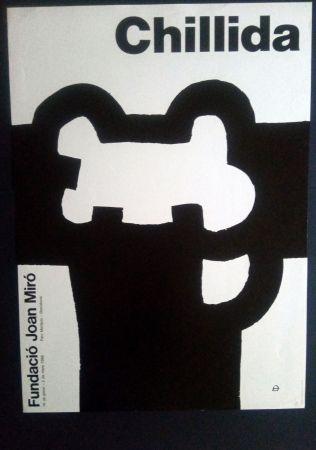 Cartel Chillida - Fundació Miró 1986