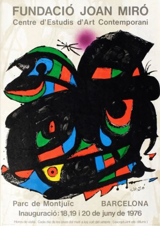 Cartel Miró - FUNDACIO JOAN MIRO - INAUGURACIO. BARCELONA. Affiche originale de 1976.