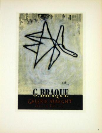 Litografía Braque - G Braque  Galerie Maeght  1956