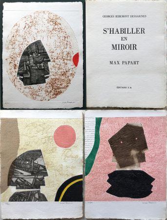 Aguafuerte Y Aguatinta Papart - G. Ribemont Dessaignes : S'HABILLER EN MIROIR (1977).