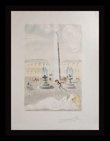 Grabado Dali -  Gala et L'Obelisque de la Concorde