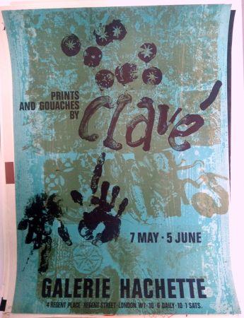 Cartel Clavé - Galeria Hachette 7 May 5 Jun