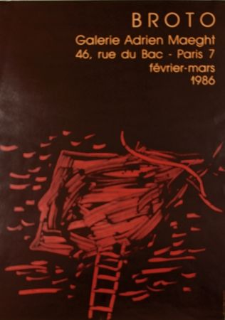 Litografía Broto - Galerie  Adrien Maeght