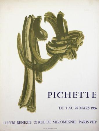 Litografía Pichette  - Galerie André Benezit
