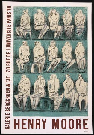 Cartel Moore - Galerie Berggruen & Cie (Seated Figures)
