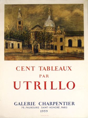 Litografía Utrillo - Galerie Charpentier