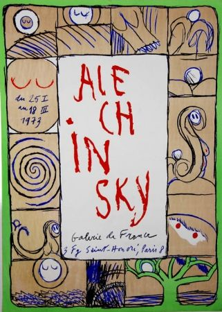Litografía Alechinsky - Galerie de France