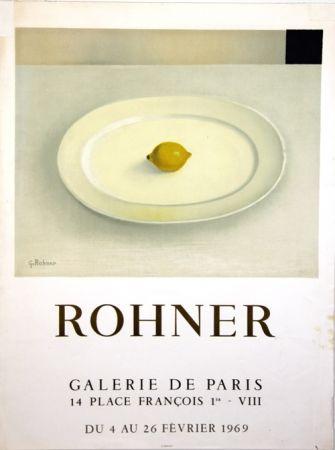 Litografía Rohner - Galerie de Paris