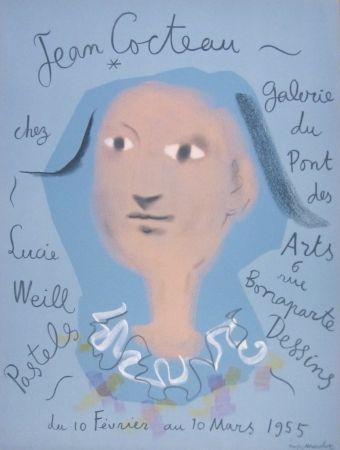 Litografía Cocteau - Galerie du Pont des Arts, chez Lucie Weill