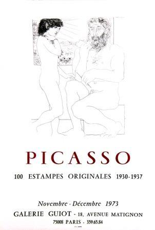 Litografía Picasso - Galerie Guiot