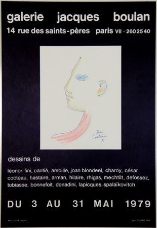 Litografía Cocteau - Galerie Jacques Boulan