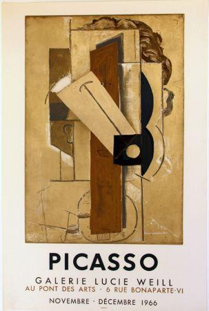Litografía Picasso - Galerie Lucie  Weill