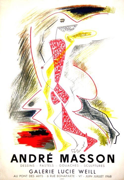 Litografía Masson - Galerie Lucie Weill 1968