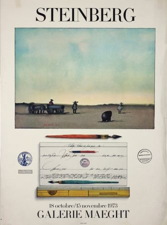 Litografía Steinberg - Galerie Maeght
