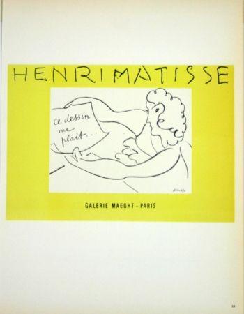 Litografía Matisse - Galerie Maeght  Ce Dessin me Plait