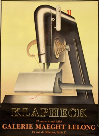 Litografía Klapheck - Galerie Maeght Lelong