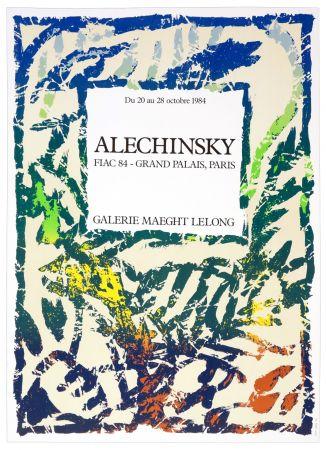 Cartel Alechinsky - Galerie Maeght Lelong, Alechinsky, FIAC 84, 1984
