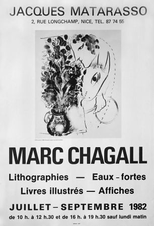 Cartel Chagall - '' Galerie Matarasso ''
