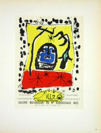 Litografía Miró - Galerie Matarasso Nice