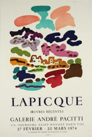 Litografía Lapicque - Galerie Pacitti