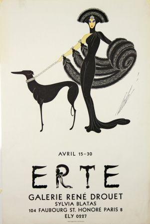 Litografía Erte - Galerie Rene Drouet