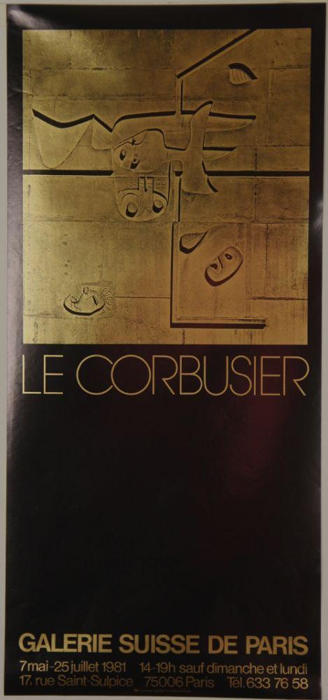 Litografía Le Corbusier - Galerie Suisse de Paris Juillet 1981