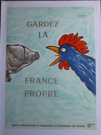 Cartel Savignac - Gardez la France propre