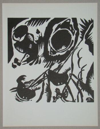 Grabado En Madera Kandinsky - Garten der Liebe