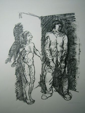Litografía Schinnerer - Gefangener (Prisoner)