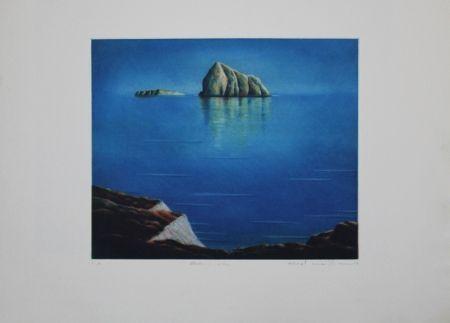 Aguafuerte Y Aguatinta Maibaum - Genesis:  Insel