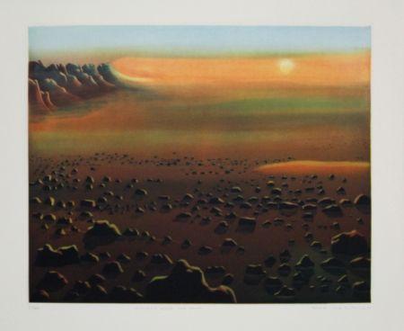 Aguafuerte Y Aguatinta Maibaum - Genesis:  Wüste und Sonne