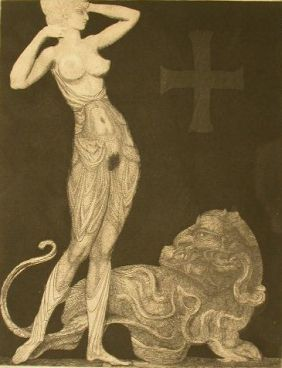 Aguafuerte Fuchs - Genie Und Tier