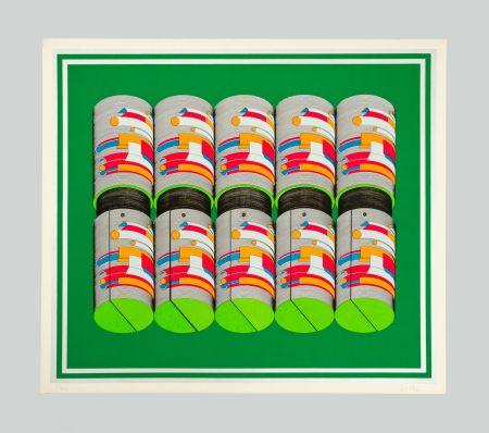Serigrafía Sutej - Geometrico mobile (verde)