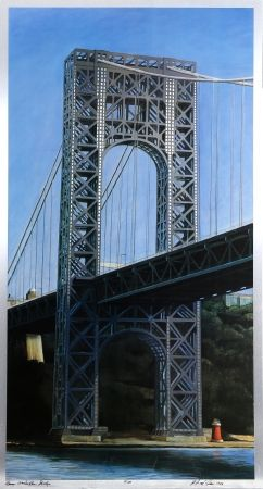 Litografía Haas - George Washington Bridge