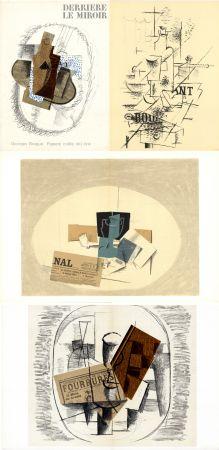 Libro Ilustrado Braque - GEORGES BRAQUE. Papiers collés 1912-1914. Derrière le Miroir n° 138. Mai 1963.