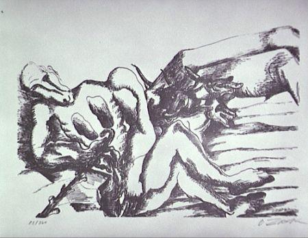 Litografía Zadkine - Gerion (A)